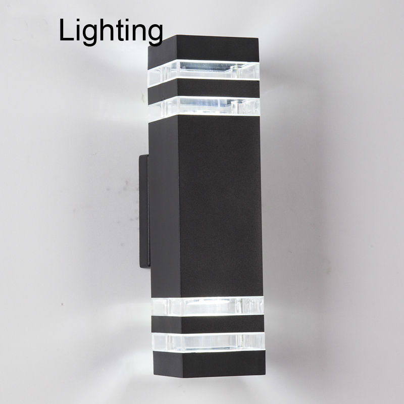 Modern Outdoor Waterproof LED Wall Lamps AC90-260V With 2pcs*5W LED Bulbs IP65 Aluminum Courtyard Garden Porch Corridor Lights 18w led outdoor waterproof wall light ip65 modern nordic style indoor wall lamps living room porch garden lamp ac90 260v lp 42