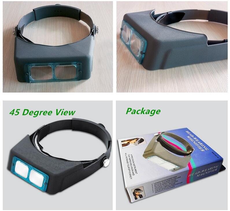 1.5X 2X 2.5X 3.5X Optivisor fejhallgató Órák javító nagyító - Mérőműszerek - Fénykép 5