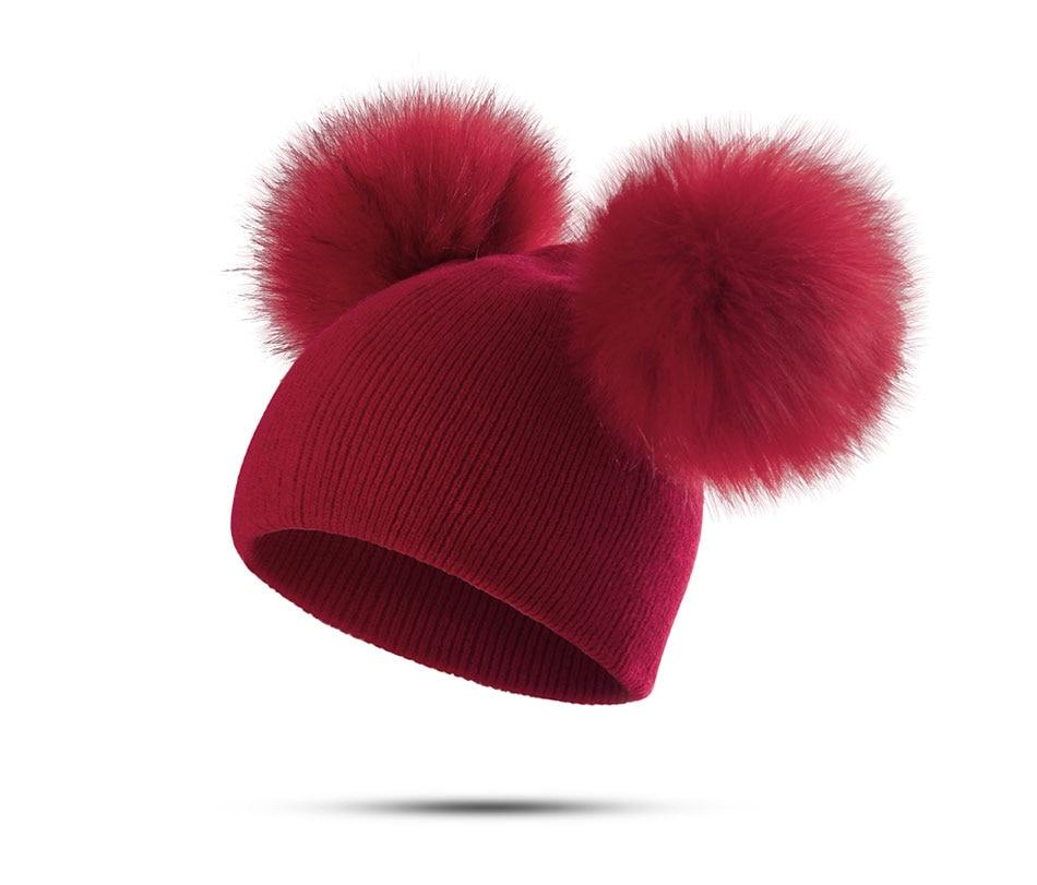 8ffc7620f 2018 MOLIXINYU Children Hat Toddler Kids Baby Warm Winter Wool Hat Knit  Beanie Fur Pom Pom Hat Baby Boys Girls Cap 1-3Y Drop Shipping