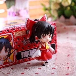 Image 1 - New Arrival 10cm Anime Action Figure Touhou Project Cartoon Hakurei Reimu 74# PVC Model Collection Cute 4 Mini Doll 1/10 Scale