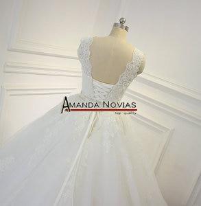 Image 5 - Impresionante vestido de novia de alta calidad 2019 Amanda Novias 100% fotos actuales