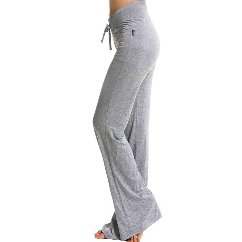 Sport Wide Leg Pants Modal High Waist Stretch Women Flare Pants Dance Club Loose Long Trousers (1)