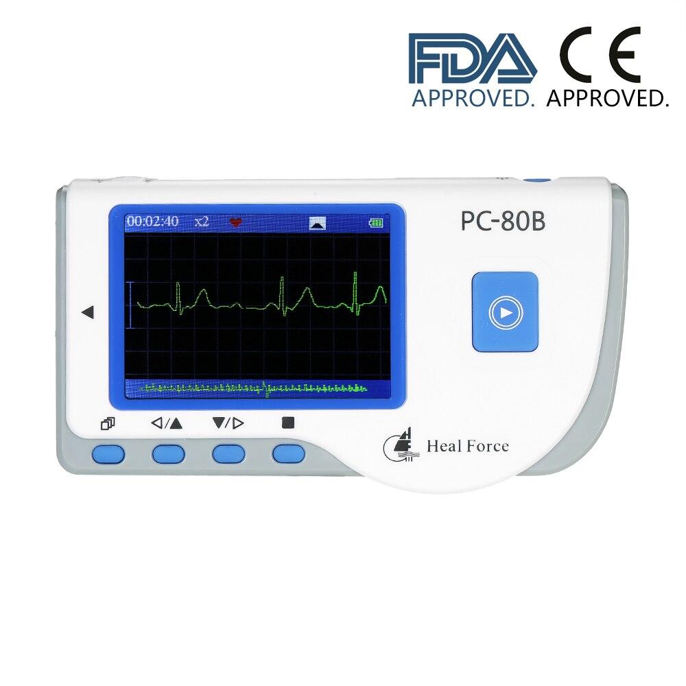 Medyczny przenośny EKG EKG Monitor maszyna do Monitor ciśnienia krwi za pomocą kabla USB klej przewody elektrodowe FDA CE zatwierdzone w Ciśnienie krwi od Uroda i zdrowie na AliExpress - 11.11_Double 11Singles' Day 1