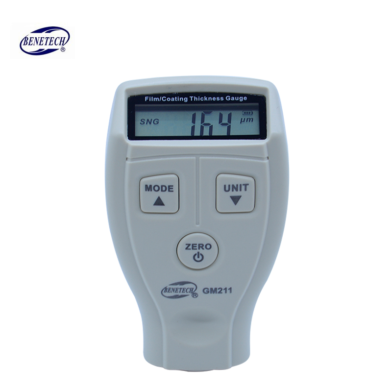 BENETECH GM211 High precision Coating thickness gauge 0-1500um magnetic and non-magnetic Car Automotive Compound thickness meter 0 1500um lcd film coating thickness gauge meter 2in1 fe nfe non magnetic surface paint coatings thickness measurement gm211