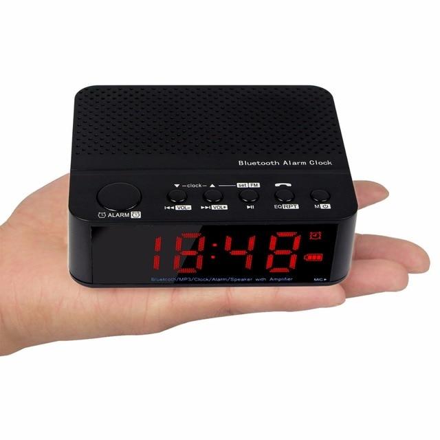 Портативный Fm-радио с Bluetooth Спикер Будильник Fm-радио с Mp3-плеер Телефонный Звонок 1500mA Батареи Приемника Y4365A