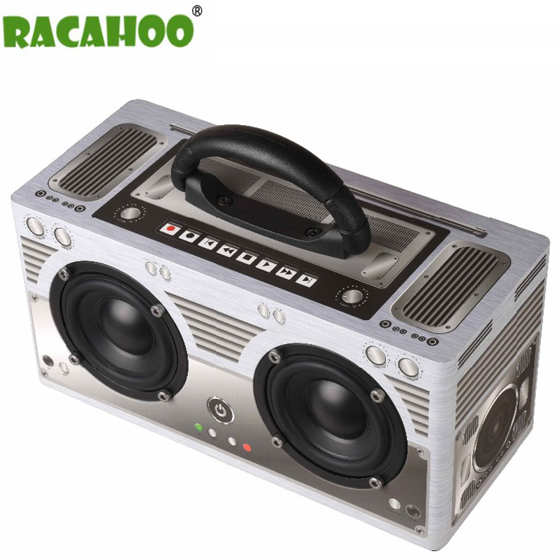 RACAHOO Wireless Bluetooth Speaker Portable Outdoor Wood Speaker Subwoofer Stereo Support Hands-free Call TF Card portable bluetooth v3 0 speaker w tf fm hands free calls golden purple multi colored