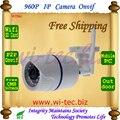 Soporte 32g Tarjeta SD WIFI 960 P IR Bullet Seguridad ONVIF Impermeable Cámara IP IR Cut Visión nocturna P2P 1.3MP Megapíxeles de Cámara de Red