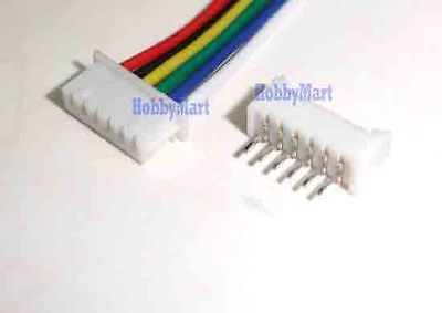 Mini. JST 1.25 T-1 6-Pin Connector with Wire x 10 sets mini micro jst 2 0mm t 1 6 pin connector w wire x 10 sets 6pin 2 0mm