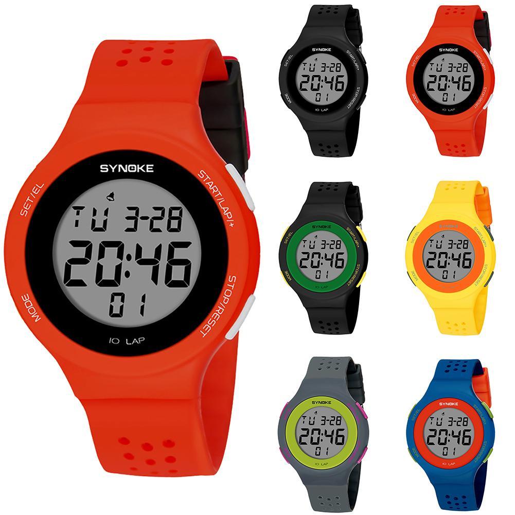 2018 Popular Brand Luxur YFashion Sport Men Women Waterproof Alarm Date Stopwatch Digital Wrist Watch Gift