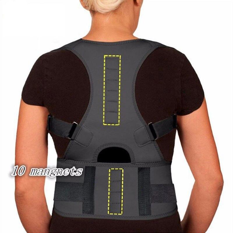 Ímã ajustável Brace Posture Corrector Alisador de Espartilho Masculino Cinturão de Volta Ombro Corrector Cinto De Suporte Postura