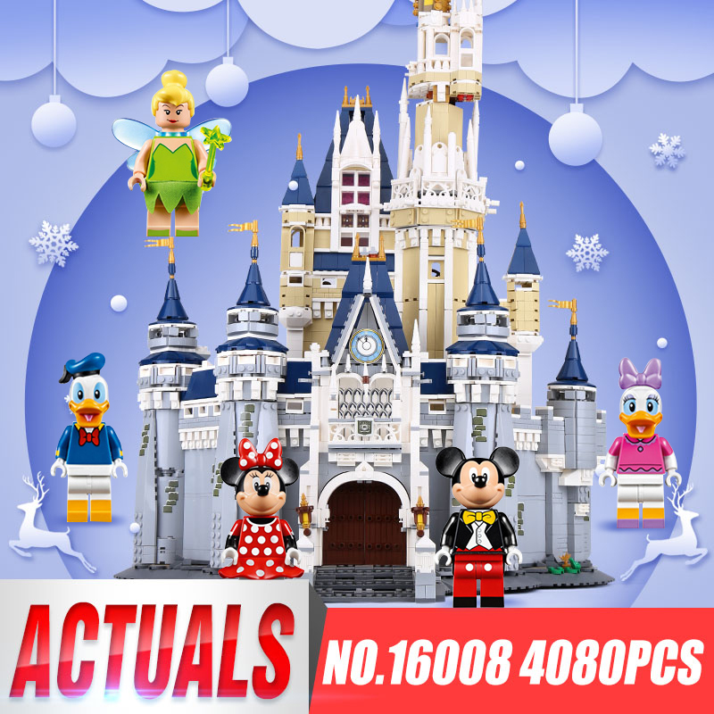 LEPIN 16008 Cinderella Princess Castle City Model Building Block Kid Educational Toys For Children Gift Compatible legoing 71040 2017 enlighten city bus building block sets bricks toys gift for children compatible with lepin