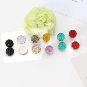 Image 4 - JAVRICK 12 Pairs Muslim Multi Use Rhinestone Magnetic Scarf Brooches Round Hijab Pins