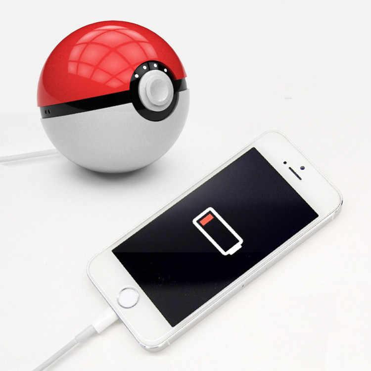 Новейшее горячее быстрое зарядное устройство для телефона Pokemon Go Red Ball power Bank 10000mA зарядное устройство с светодиодный подсветкой для мобильных игр cosplay Pokemon