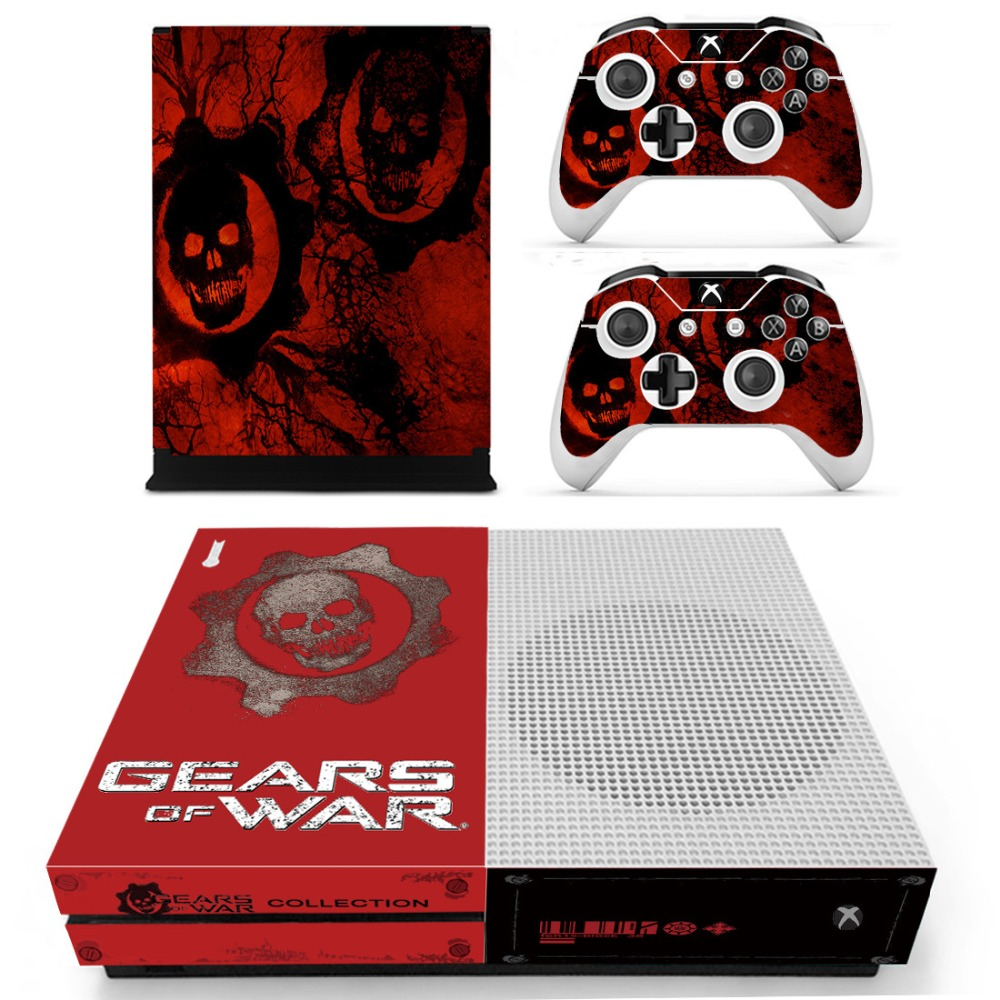 Homereally sticker for xbox one s gears of war custom sticker cover for xbox one slim console and controller accessory