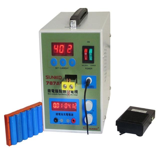 Светодиодный импульса Аккумуляторный аппарат для точечной сварки применимо Тетрадь телефон Батарея прецизионная сварка машина с педалью питания 787A +