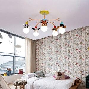 Image 4 - 현대 led 샹들리에 비품 오버 헤드 조명 홈 어린이 룸 아기 소년 소녀 침실 키즈 공주 샹들리에 램프