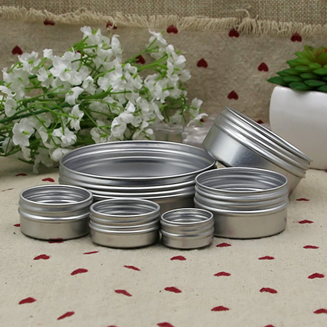 Empty plastic cosmetic container metal cream box aluminum hair wax box paste small sample cosmetic bottle in Refillable Bottles from Beauty Health