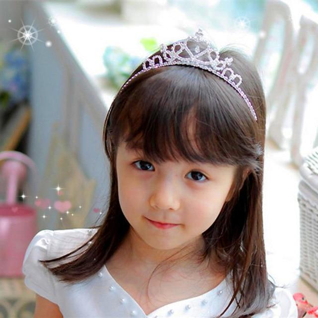 Glitter Rhinestone Princess Crown for Girl Hair Baby girl Birthday Crown  Princess Birthday Tiara Crown Silvery  3aae23856982
