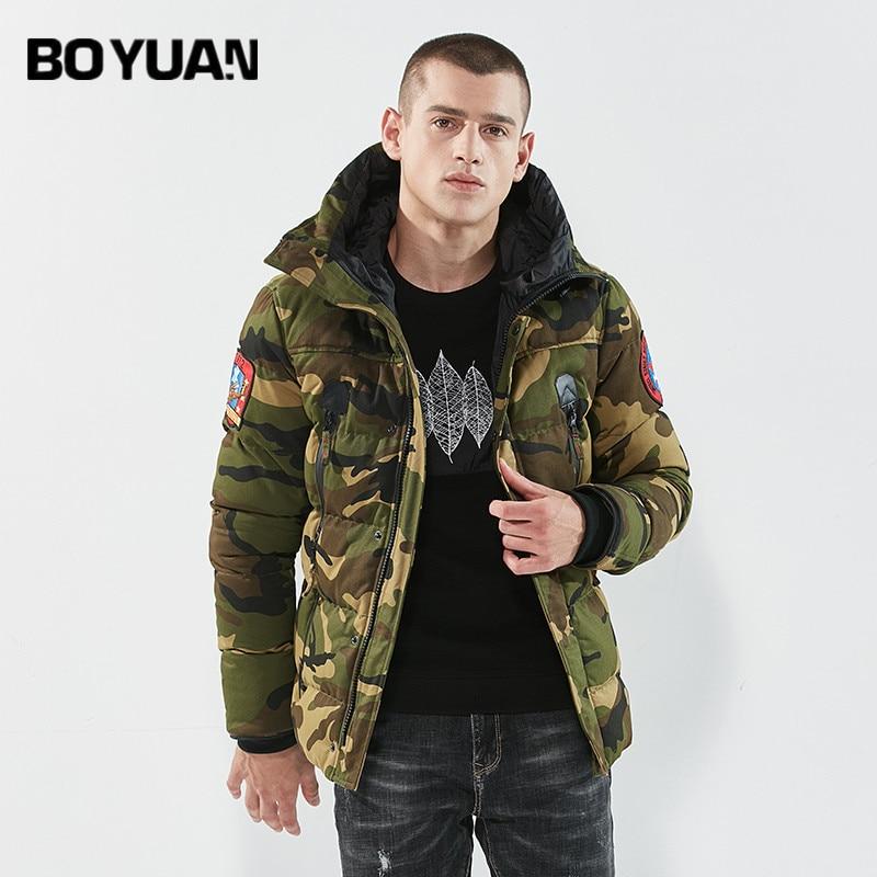 BOYUAN Men's Jacket 2017 New Winter Jacket Men Parka Camouflage Casual Fashion Thick Coat Male Parka Warm Windbreaker DSW-Q3901 цена