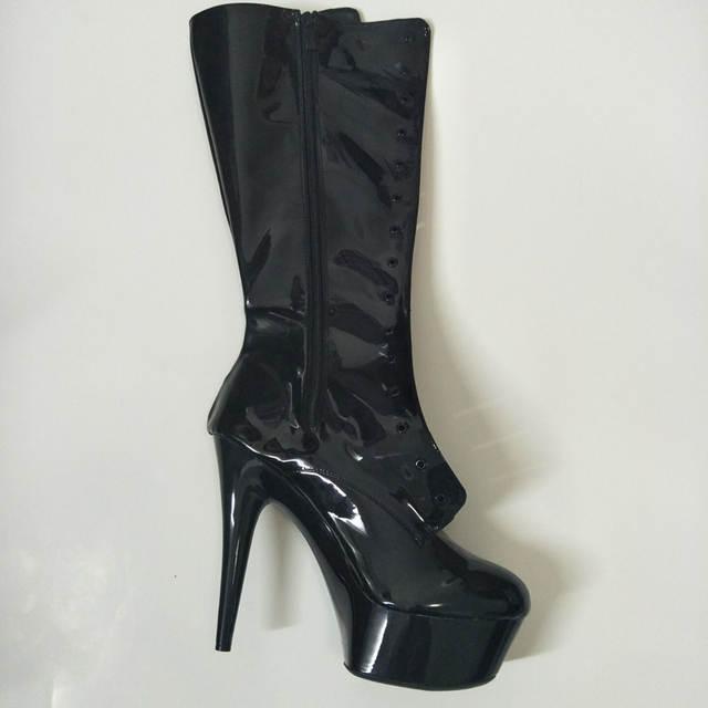 3da1dca8d11 placeholder LAIJIANJINXIA Sexy Clubbing Dancing Knee High Boots 6 inch High  Heel Shoes Winter Fashion Long 15