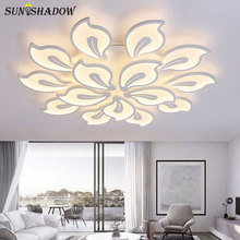 Black&White Acrylic Modern LED Ceiling Light For Living Room Bedroom Kitchen Lustre Led Chandelier Ceiling Lamp Lighting Fixture white black finish new square 450 580mm acrylic modern chandelier stylish led chandelier for bedroom living room fixture