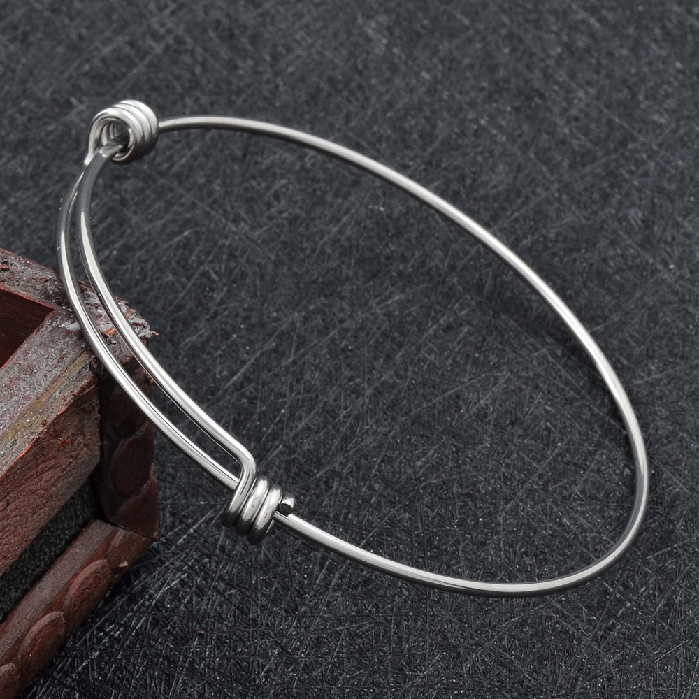 aafe3cc957b95 US $72.0 10% OFF|Aliexpress.com : Buy 50mm 60mm 65mm Hot Sale Stainless  Steel Expandable Wire Kid Adult Size Bangles 1.8mm Thickness Adjustable  Wrist ...