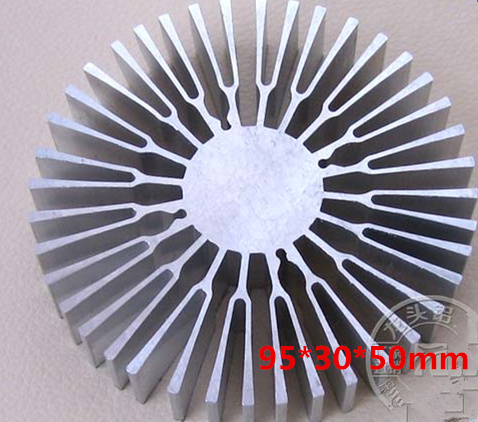 35W High Power 95*30*50mm lighting sunflower radiator LED lamp bead aluminum heat sink profiles free ship 5pcs lot with three holes high power round led lamp bead aluminum radiator 41 22 25mm sunflower aluminum heat sink