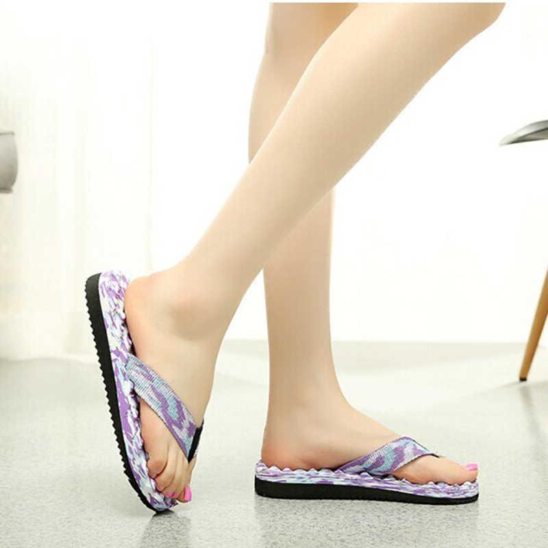 2019 קיץ אישה נעלי אישה קיץ פלטפורמת כפכפים סנדלי נעלי בית חיצוניים מקורה חוף שקופיות ליידי הנעלה