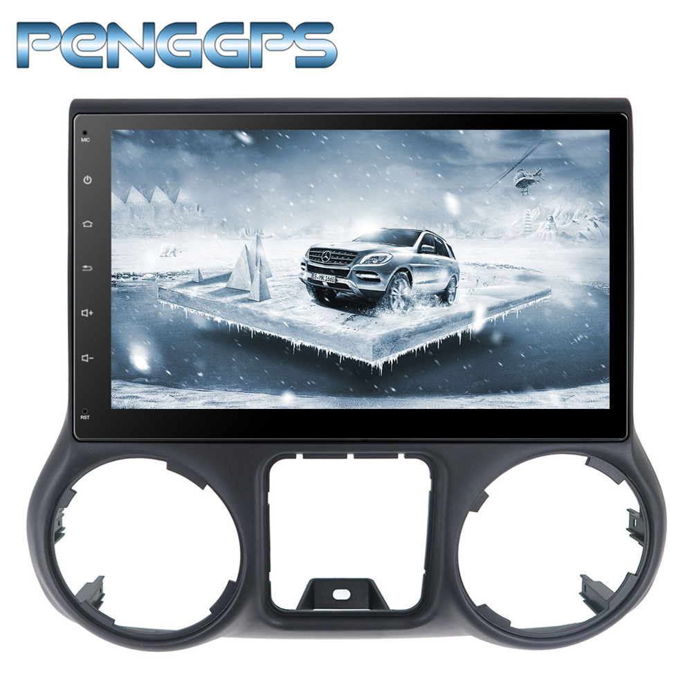 2 <font><b>Din</b></font> <font><b>Android</b></font> <font><b>8.0</b></font> <font><b>Car</b></font> CD DVD Player 8Core GPS Navigation for Jeep Grand Wrangler 2011-2016 <font><b>Stereo</b></font> 1080P HD Screen Autoradio image