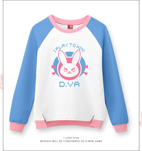 Free shipping new High Quality Game Character OW D.VA 100% cotton jacket /Hoodie Sweatshirt Cosplay Costume