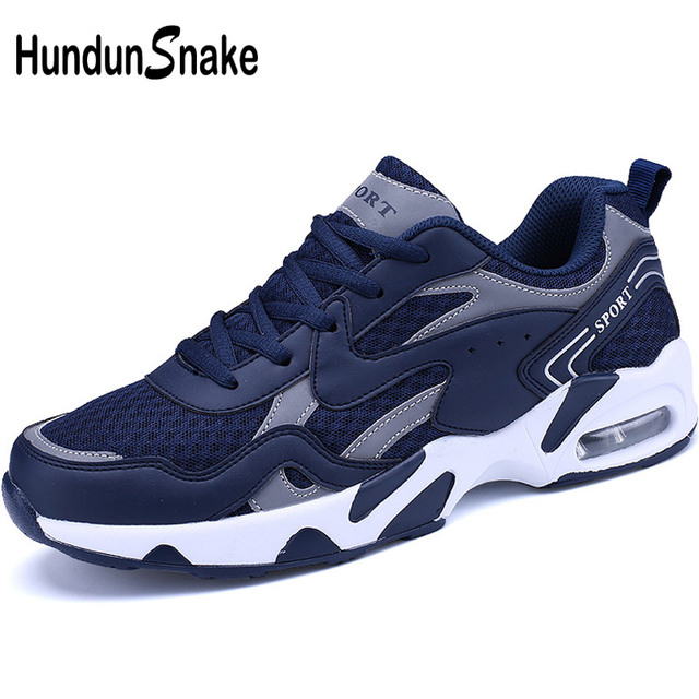Hundunsnake Blue Male Sports Shoes Air Cushion Mens Running Shoes Man Sneakers Summer Sport Shoes Men 2018 Trainer Krasovki T299