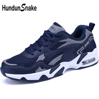 Hundunsnake Blue Male Sports Shoes Air Cushion Mens Running Shoes Man Sneakers Summer Sport Shoes Men 2018 Trainer Krasovki T299