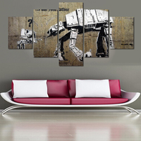 2016 Paintings Painting By Numbers Unframed 5 Panels And Robot Picture Hd Canvas Print Painting Artwork