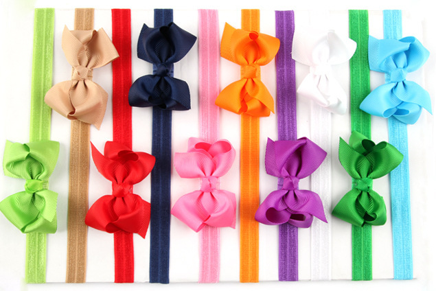 Big Sale! 20Clr children accessories Infant newborn Baby girl accessories ribbon bow Toddler Head bands Headwear kids Hair Band