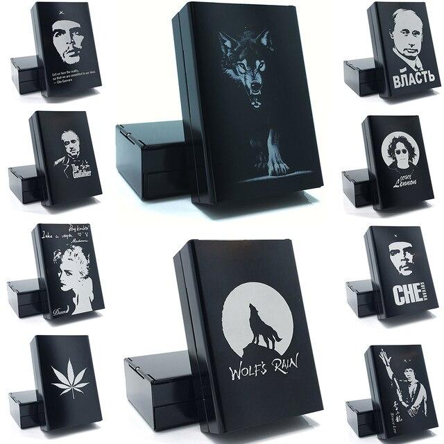 Lupo Laser Tiene 20 Sigarette Metallo Della Novità Cassa di Sigaretta Accessori