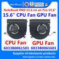 Dragão louco marca portátil novo cpu gpu ventilador de refrigeração do dissipador calor para xiao mi notebook pro 15.6 mi ar pro ND55C05-17E23 ND55C05-17E22