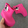 14-18cm Mini cartoon children boots for boys girls rain boots  jelly mickey Mitch Minnie water shoes kids footwear
