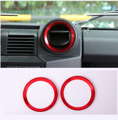 Aluminum Alloy Car Interior Air Conditioning Outlet Vent Ring Trim For Land Rover Defender 110 2015 2016 Car Accessories in Car Stickers from Automobiles Motorcycles