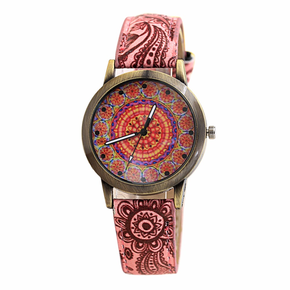 women watches montre femme Women Retro Digital Dial Leather Band Quartz Analog Wrist Watch Watches Dropship цена