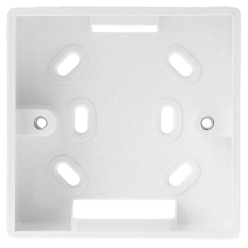 Ootdty 86*86 Mm Wall Mounted Junction Box Voor Thermostaat Witte Kleur Installatie Doos Voor BOT-313WIFI Boiler Thermostaat