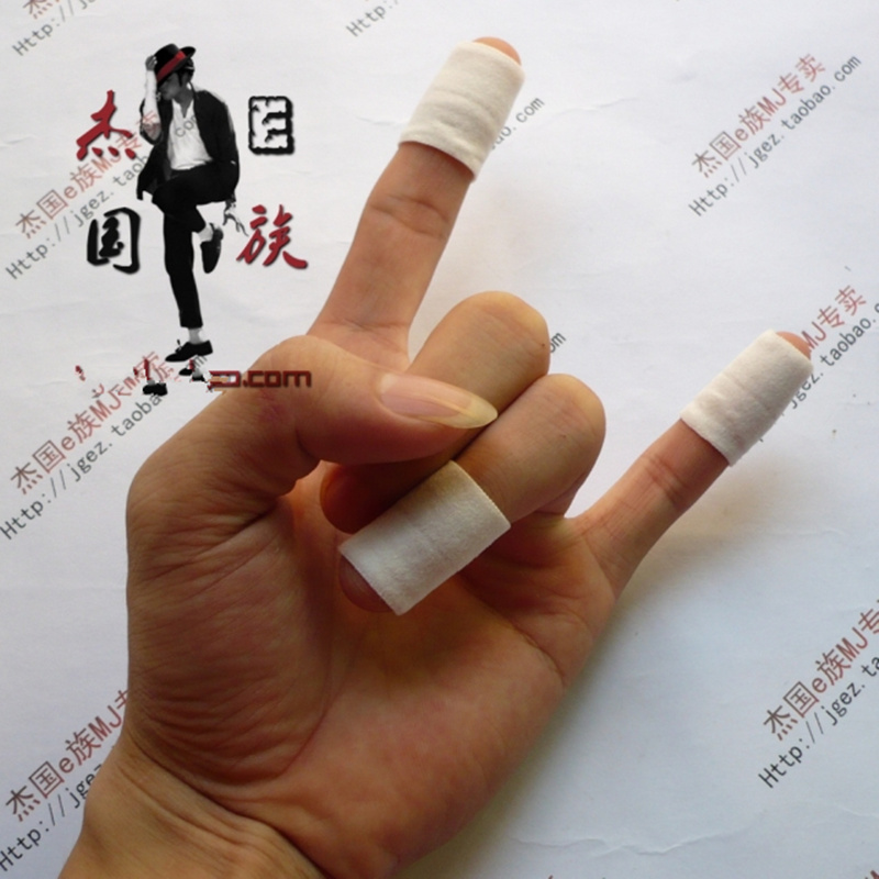 MJ Michael Jackson Dance White Dactylotheca Finger Guard Cot in 3 Pcs a lot