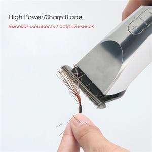 Image 3 - Codos mini máquina de cortar cabelo elétrica para salão de beleza homem profissional recarregável aparador de cabelo lâmina de aço inoxidável máquina de corte de cabelo