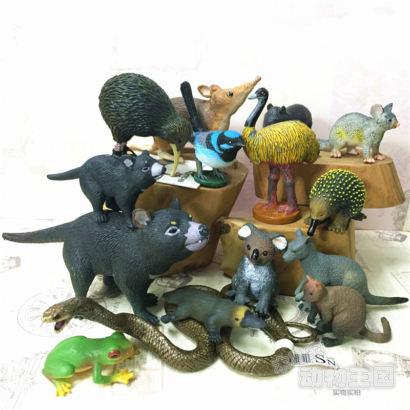 pvc figure Nature and Science Australia Animal Models Kiwi frog kangaroo bag hamster platypus 15pcs/set pvc figure all kinds of horses 15pcs set