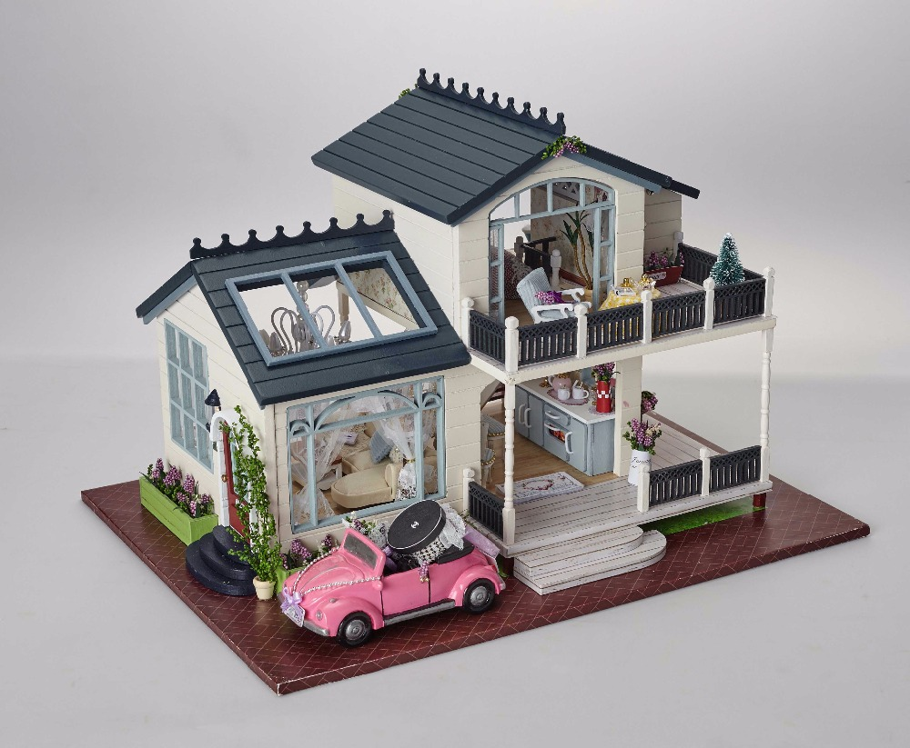 CUTE ROOM DIY Building House furniture miniatura Provence DIY Handmade House with music box grownups Kids