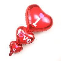 1PCS Red Heart I Love U Aluminum Foil Balloons Wedding Decoration Children Baby Toys Air Balls