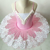 Volwassen professionele ballet tutu Roze kind pannenkoek tutu ballet kleding voor kids vrouw zwanenmeer ballet kostuums