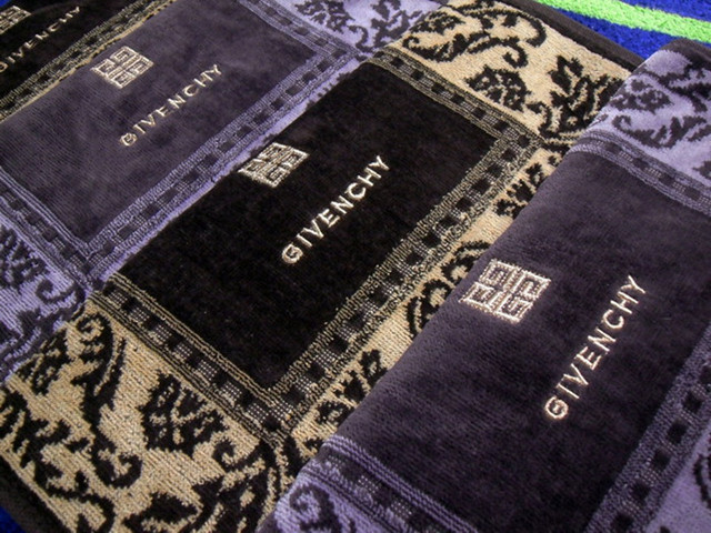 ae7c608ebc1 4pic lot 2015 New GIVENCHY 100% Cotton Velvet towel household Clearing 2pic  Deep purple 2pic brown  35 75cm face towel