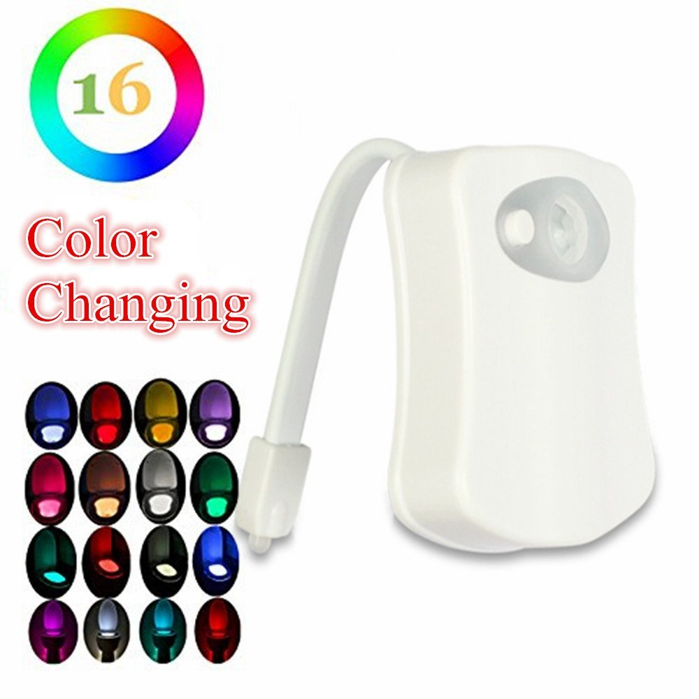 Luzes da Noite 16 cores motion ativado toalete Bateria : Aaa