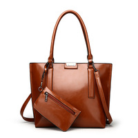 Europe Style Soft PU Leather Tote Women Handbag Composite Bag Versatile Female Shoulder Bag Laptop Bag