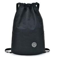 Женские рюкзаки для девочек-подростков, рюкзак на завязках, сумка на плечо, Женская Повседневная сумка, однотонные школьные рюкзаки